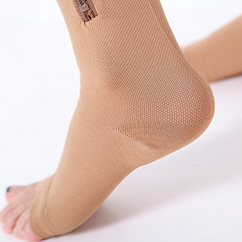 Zip-Sox-Socks,Medical-Compression-Stockings-with-Open-Toe-for-Men-&-Women-15-20-mmHg-Compression-Level,-Skin-Color (1)